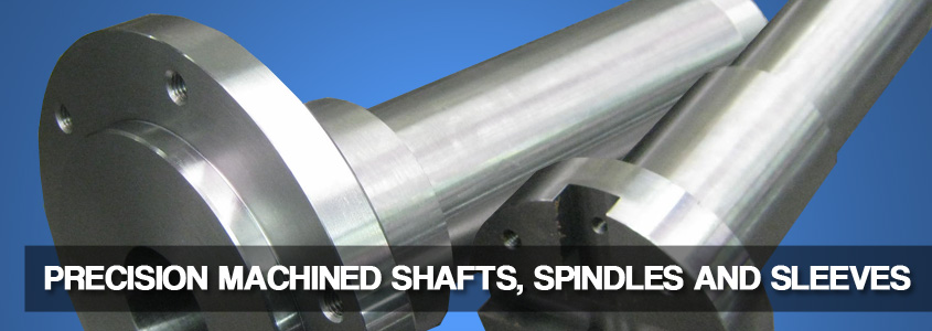 precision machined shafts, splindes, and sleeves